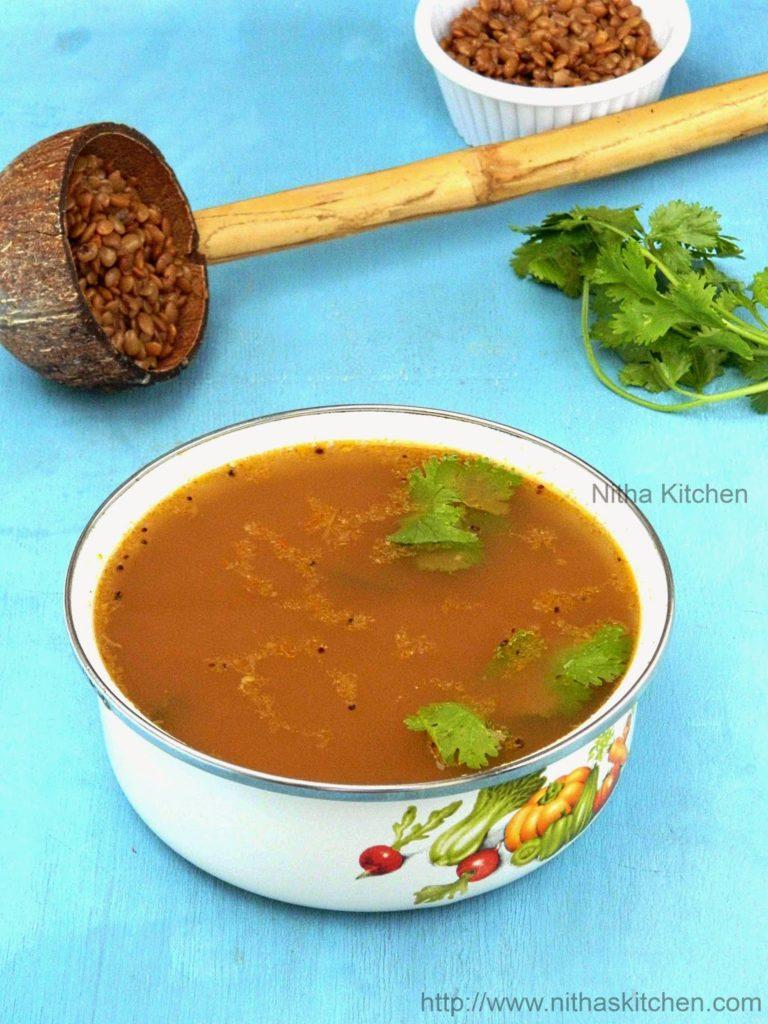 Kollu Rasam | Horsegram Soup | Lentil Soup - Nitha Kitchen