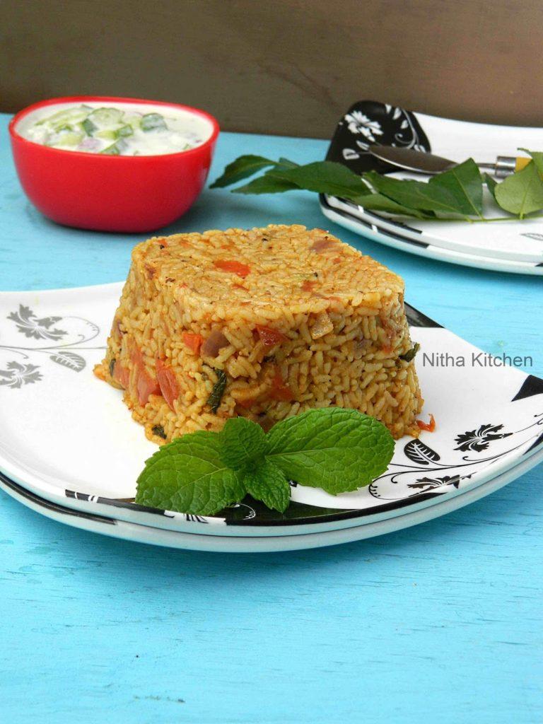 Tomato Rice Thakkali Sadam