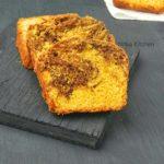 Eggless Mango Chocolate Loaf Cake | Mango Marble Cake Recipe