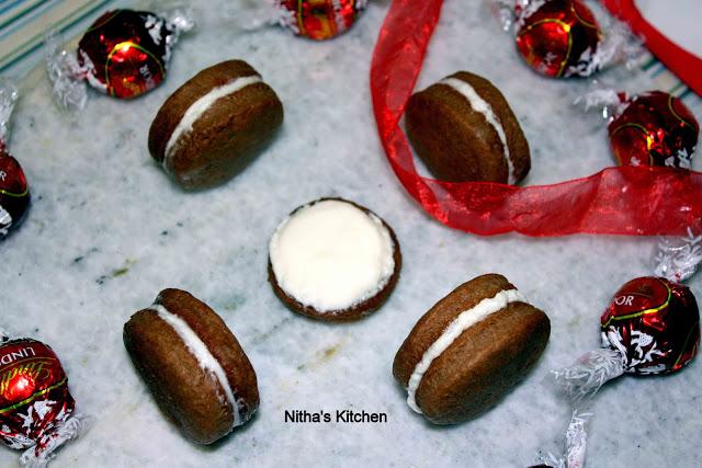 Choc Cream cookies
