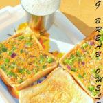 Vegetable Bread Omelet   Omelette   Sandwich
