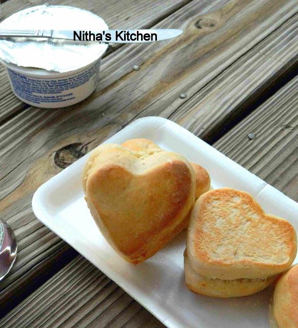 Heart Dinner Rolls