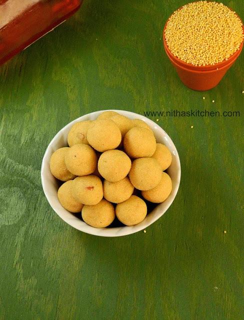 Thenum Thinai Maavum Thinai Urundai Millet Honey Balls