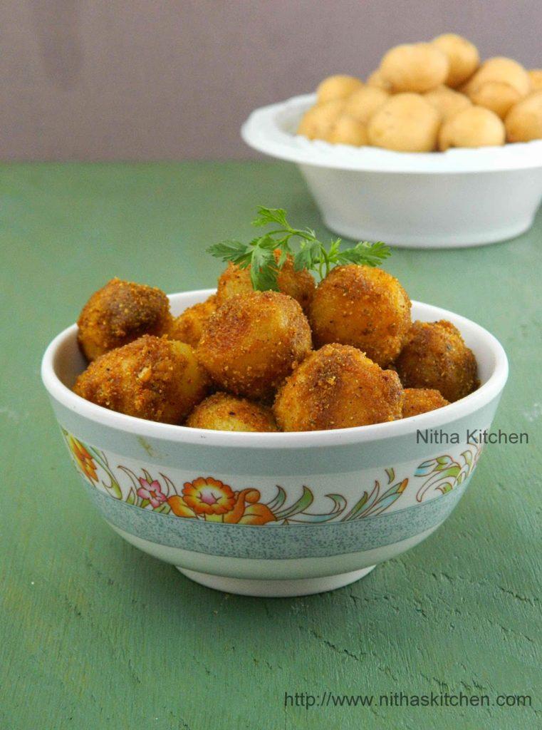 Baby Potatoes Stir Fry  Pan Roasted Spicy Aloo Recipe