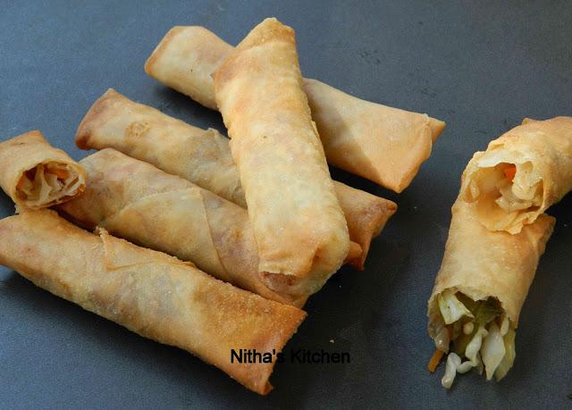 Chinese veg spring rolls recipe