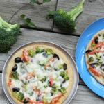 Broccoli topped Multi Grain Pizza