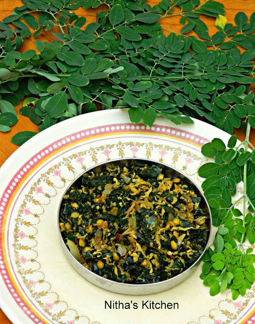 Murungakeerai Poriyal with Toor Dhal recipe