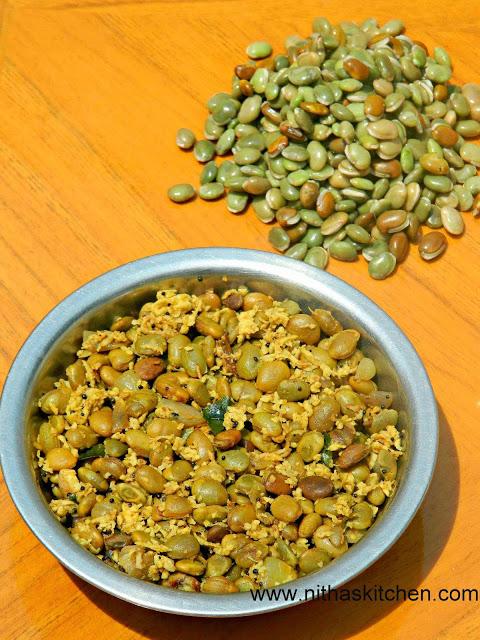 Pachai Avara kottai Poriyal | Indian Broad Beans Stir Fry