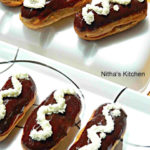 Chocolate Éclairs Recipe from Scratch   Choux Pastry with Basic Vanilla Custard Filling   Eclairs recipe