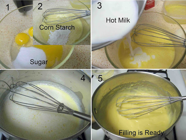 making custard step by step picture recipe