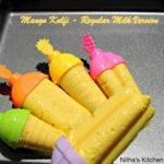 Regular Milk based Mango Kulfi Recipe   No Condensed Milk   No Heavy Cream   Mango Popsicles Version II