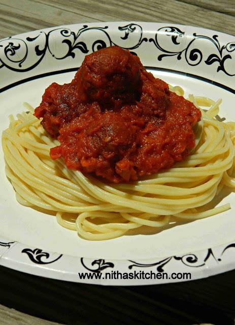 Spaghetti Veg balls0