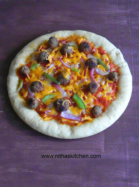 Baked Spinach Kidney Beans Fritters Veg Kofta used in Newyork style Pizza