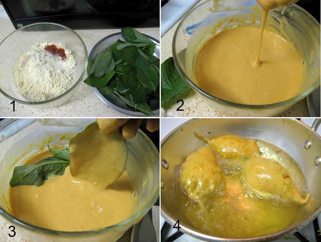 step by step preparation of Keerai Bajji Palak Pakora Recipe