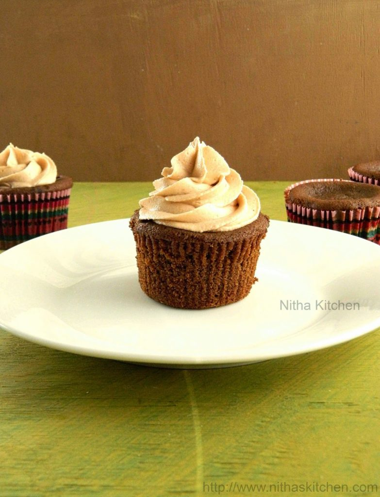 Eggless Chocolate Coffee Cupcakes Mummy Cupcakes