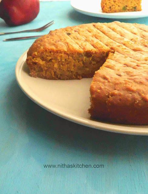 Vegan Jaggery Cake0