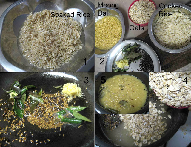 Oats Brown Rice Pongal1