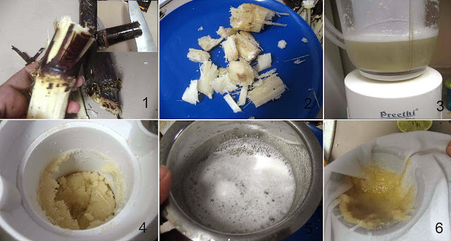 Homemade Sugarcane Juice Karumbu Juice கரும்புச் சாறு with Step By Step Pictures