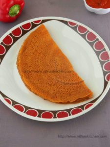 Kambu Kaara Dosai Bajra Tomato Dosa   கம்பு தக்காளி கார தோசை