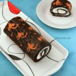 Ornamental Cake Roll | Patterned Chocolate Swiss Roll Cake with Whipped Cream Filling Recipe