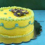 Eggless Mango ButterCream Frosting | Butter Cream Icing | Perfect ButterCream Frosting for Cakes and Cupcakes | Flower Fondant Cake Recipe