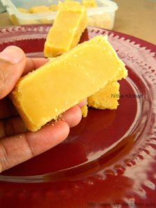 Easy Mysore Pak Recipe   Melt in Mouth Sweet with Reduced Ghee Recipe