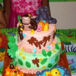 Jungle Theme 2 Tier Birthday Cake | Complete Cake Tutorial for Beginners