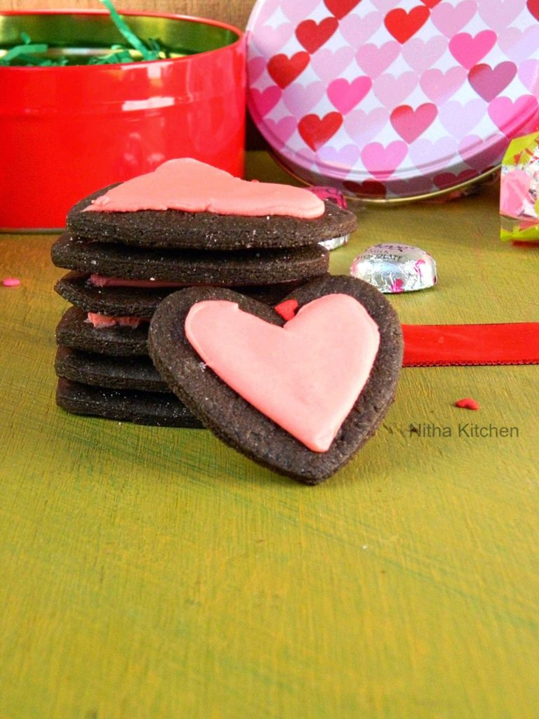 Heart Choc Cookies L