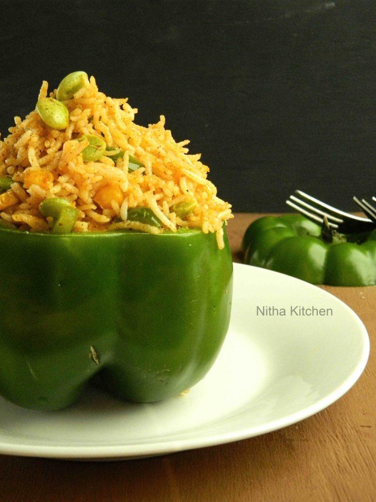Capsicum Corn Rice   Easy and Quick Lunch Box Special Recipe