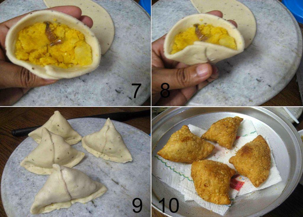 how to make samosa shape