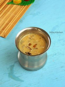 Arisi Thengai Paal Payasam   Coconut Milk Kheer   Traditional South Indian Recipe
