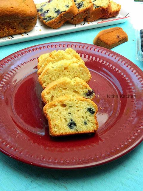 Blueberry Yogurt Pound Cake1 L