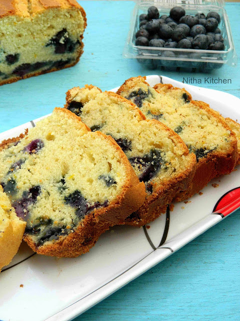 Blueberry Yogurt Pound Cake L