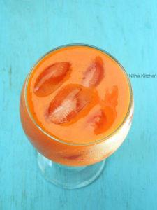 Mango Strawberry Orange Smoothie | Mixed Fruit Juice