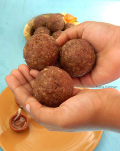 Easy Red Aval (Poha) Ladoo   Krishna Jayanthi Special