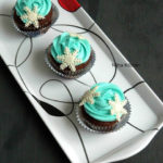 German Chocolate Cupcakes with Buttercream Frosting | Frozen Themed Cupcakes