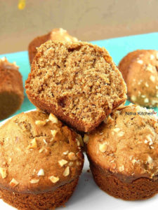 Healthy Banana Nut Wheat Muffins | Morning Breakfast Muffins