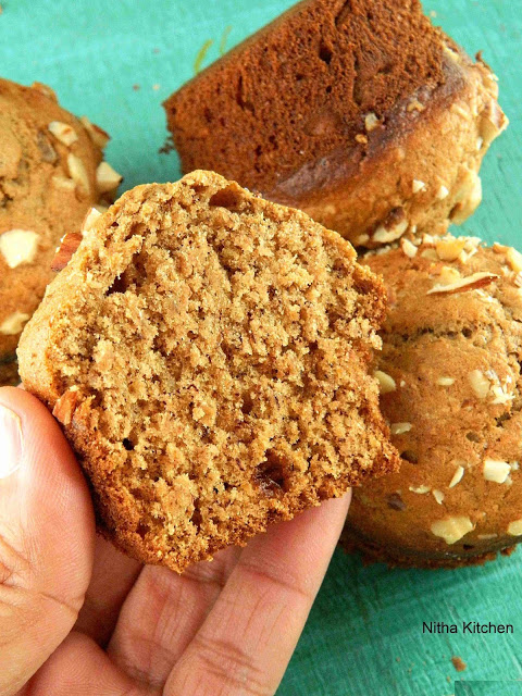 Healthy Banana Nut Wheat Muffins Morning Breakfast