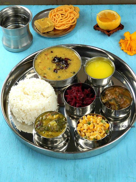 South Indian Veg Lunch Menu Idea