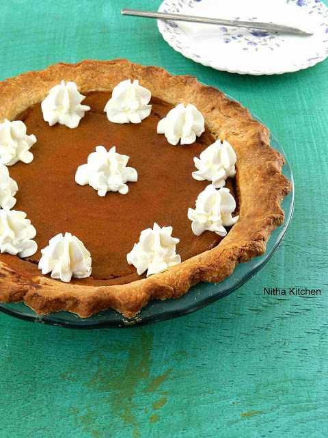 Traditional Pumpkin Pie with Homemade Pie Crust Recipe