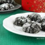 Chocolate Crinkle Cookies | Christmas Holiday Cookies
