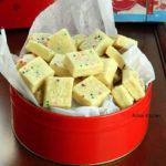 Christmas Shortbread Bites | Eggless Funfetti Shortbread Tidbits | Easy Cookies Recipe