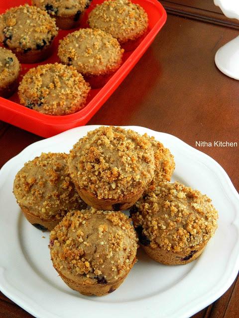 Blueberry Walnut Muffins L