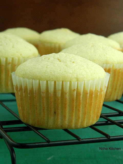 Moist Coconut Cardamom Cupcakes with step by step picture Recipe
