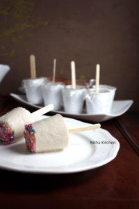 Almond Pista Funfetti Kulfi | Mixed Nuts and Cardamom Flavored Party Kulfi