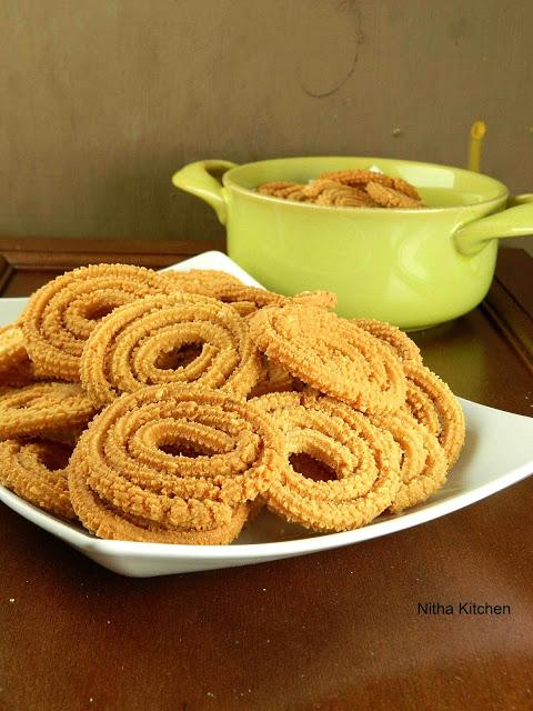 Peanut Chakli Verkadalai Murukku Using Instant Rice Flour
