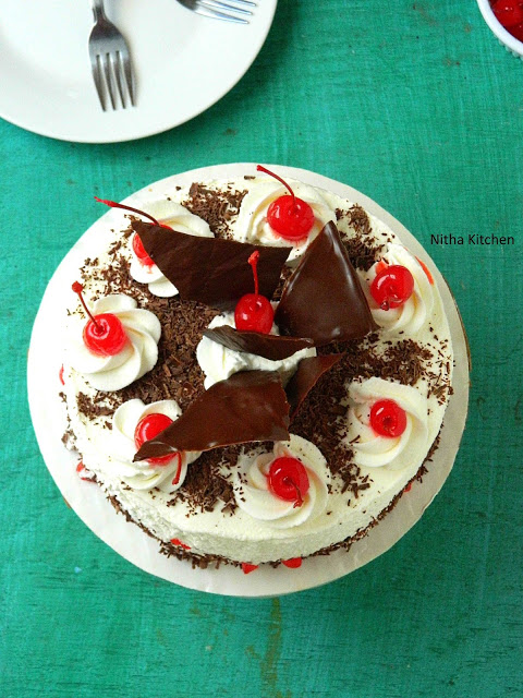 Eggless Black Forest Cake2 L