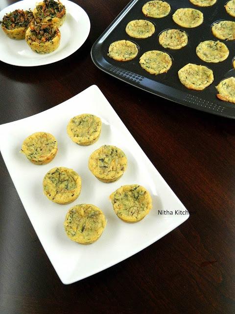 Eggless mini quiches L