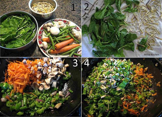 eggless quiche step1