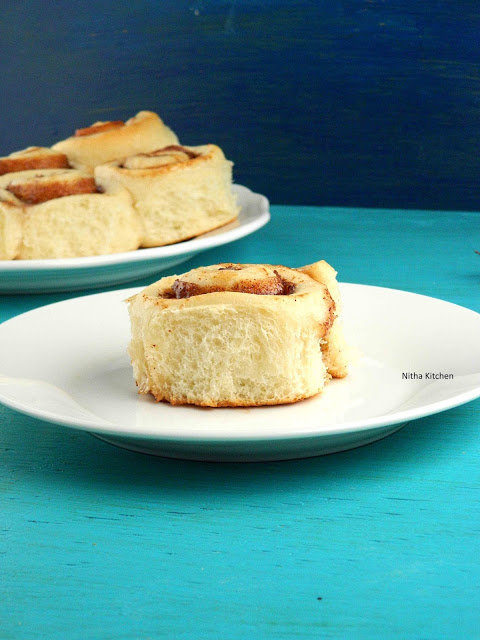 eggless cinnamon rolls recipe using tangzhong method